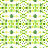 Watercolor Bright Green Circles Mosaic Seamless Pattern. Watercolor Bright Green and Yellow Circles Mosaic Seamless Pattern Stock Photography