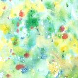 Watercolor abstract green texture with splashes of paint. stock illustration