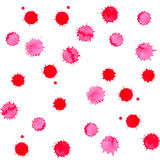 Watercolor bright pink blot blob spot seamless pattern background Royalty Free Stock Photo