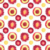 Watercolor bright seamless pattern. Circle painted background. Can be used for wrapping paper and fabric design. Royalty Free Stock Photography