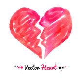 Watercolor broken heart Stock Images