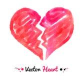 Watercolor broken heart Stock Images