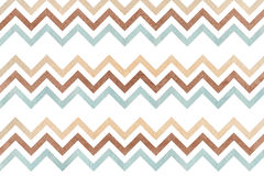 Watercolor brown, beige and blue stripes background, chevron. Stock Photos