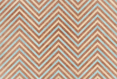 Watercolor brown, beige and blue stripes background, chevron. Stock Images