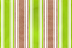 Watercolor brown and green striped background. Stock Photography