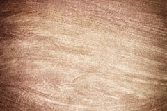 Watercolor brown wood board or old paper or stucco surface realistic texture background.  Royalty Free Stock Images