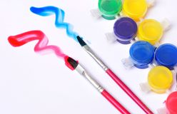 Watercolor and brush Stock Images