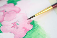 Watercolor brush Royalty Free Stock Photography