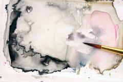 Watercolor brush Stock Photos