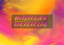 Watercolor Brush Gradient Background. Trendy Watercolor Brush Gradient Background Vector concept Royalty Free Stock Photos