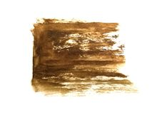 Watercolor brush hand drawn on paper brown abstract vector illustration