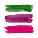 Watercolor brush stroke set Stock Photos