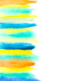 Watercolor brush strokes abstract background Royalty Free Stock Photos