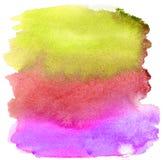 Watercolor brush strokes. Background stock photo