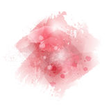 Watercolor brush strokes, blots on white background.. Watercolor brush strokes, blots on white background. Acrylic stroke paint, pink ink abstract texture Stock Photography