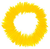 Watercolor brush strokes circle. Watercolor yellow brush strokes circle Vector Illustration