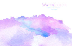 Watercolor brush strokes painted background. Abstract acrylic and watercolor brush strokes painted background. Texture paper Stock Images