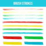 Watercolor brush strokes. Stock Images
