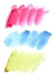 Watercolor brush strokes Royalty Free Stock Image