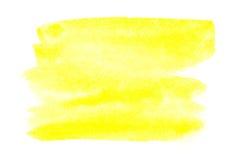 Yellow Watercolor Brush Strokes Stock Illustration - Image: 43427078