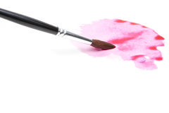 Watercolor Brush and Wet Paint Stock Images