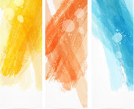 Watercolor brushed lines banners Stock Photography