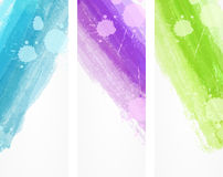 Watercolor brushed lines banners Royalty Free Stock Photo
