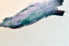 Watercolor brushstroke Στοκ φωτογραφία με δικαίωμα ελεύθερης χρήσης