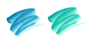 Watercolor brushstrokes σε ένα άσπρο υπόβαθρο διανυσματική απεικόνιση