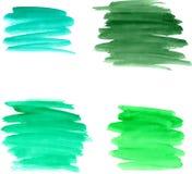Watercolor brushstrokes Στοκ φωτογραφία με δικαίωμα ελεύθερης χρήσης
