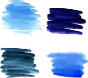 Watercolor brushstrokes royalty free illustration