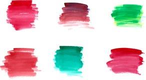Watercolor brushstrokes Stock Photos
