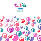 Watercolor bubbles background. Stock Photography