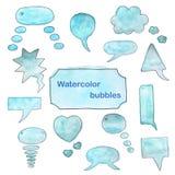 Watercolor bubbles set. Stock Photo