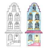 Watercolor buildings. Stock Images