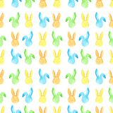 Watercolor bunny seamless pattern. Easter holidays. For design, card, print or background Stock Image