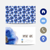 Watercolor business card Stock Images