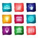 Watercolor business icons Stock Image
