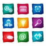 Watercolor business icons Royalty Free Stock Photos