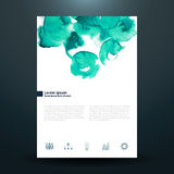 Watercolor business template with circles Stock Images