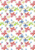 Watercolor butterflies. Background with watercolor butterflies. Pattern royalty free illustration