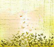 Watercolor butterflies background Royalty Free Stock Photos
