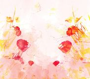 Watercolor butterflies background Royalty Free Stock Photo