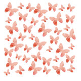 Watercolor butterflies background Royalty Free Stock Images