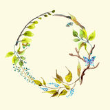 Watercolor butterfly and branch background Royalty Free Stock Image