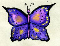 Watercolor Butterfly Stock Photos