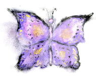 Watercolor Butterfly Stock Image