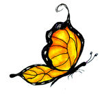 Watercolor Butterfly Design Stock Photo