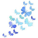 Watercolor butterfly flock Royalty Free Stock Image