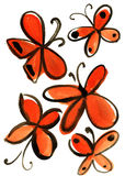 Watercolor butterfly impression painting. In white background Royalty Free Illustration